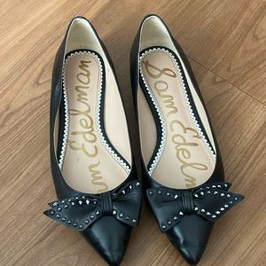 Sam  Edelman black Raisa black spike bow flats
